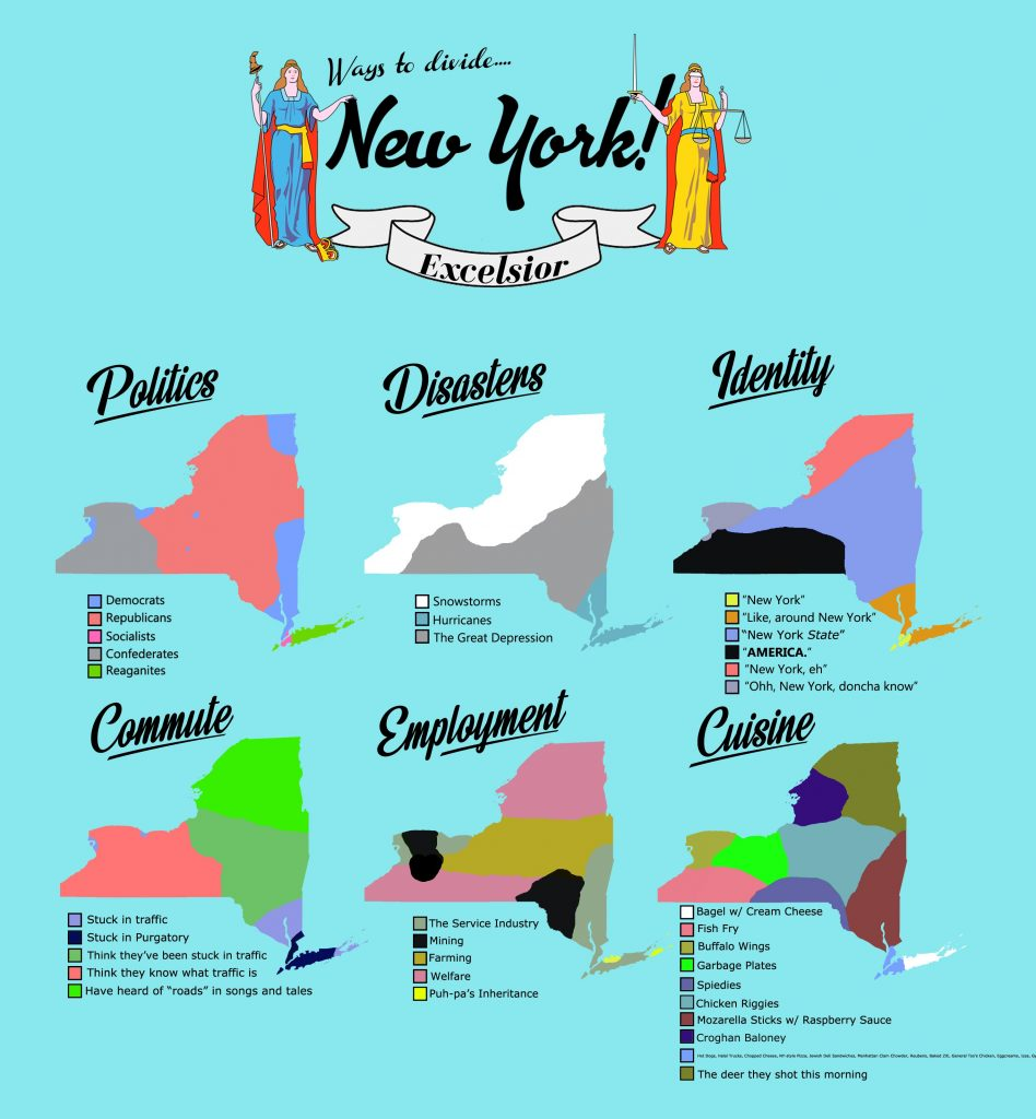 Six ways to divide New York