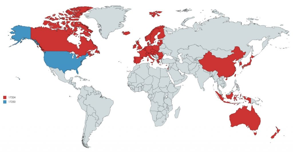 The Countries In Red Have As Many Murders Combined As The United States