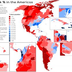 Percentage of Blacks in America's