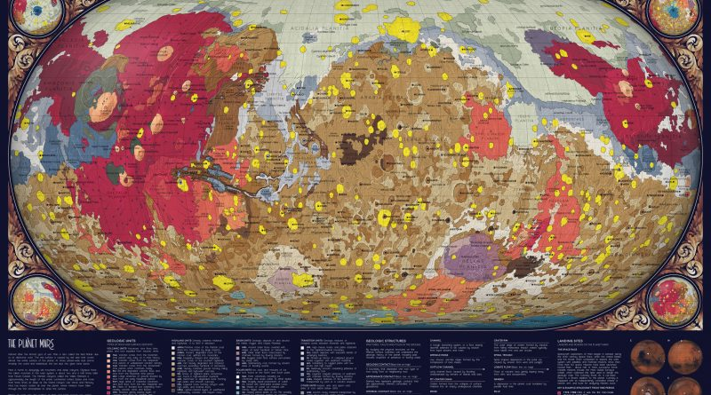 A geologic map of Mars