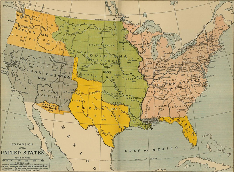 Map Of The United States From The Colonial Era To The Present Day - Us-map-1819