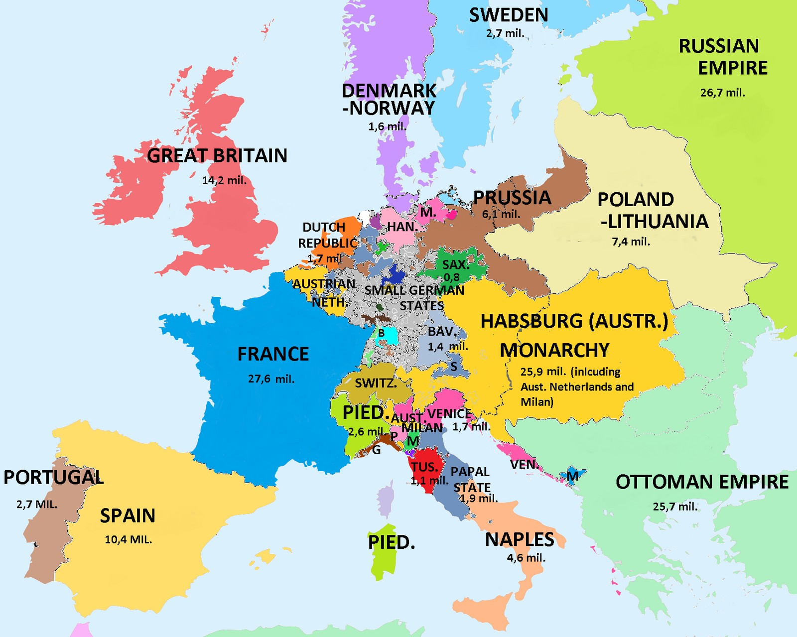 Map Of France French Revolution.Europe On The Eve Of The French Revolution Vivid Maps
