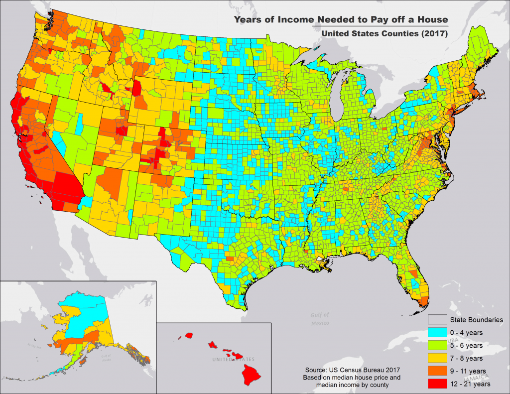How Many Years Of Income It Takes To Buy A House In Every U.S. County