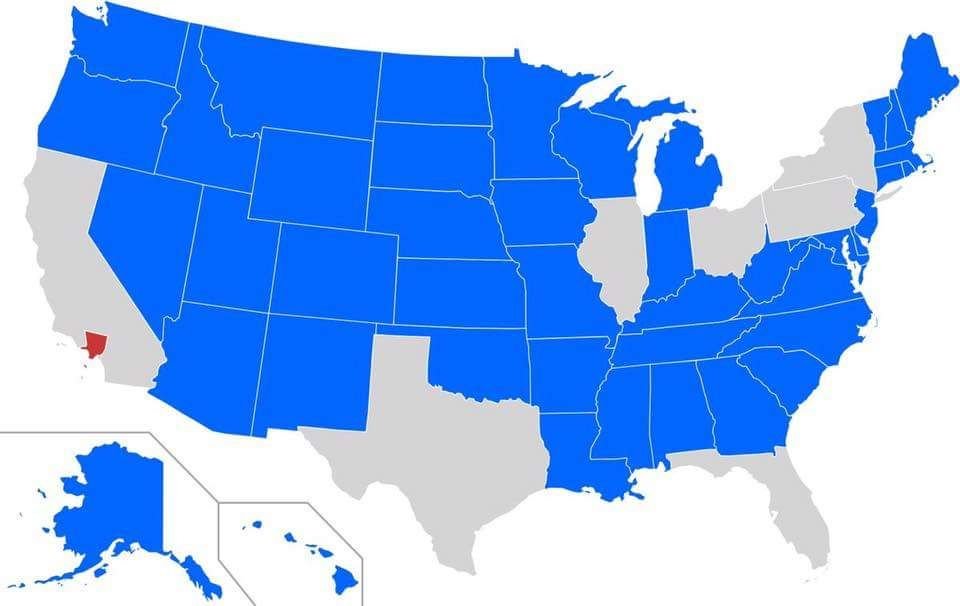 U.S. States with a smaller population than Los Angeles County