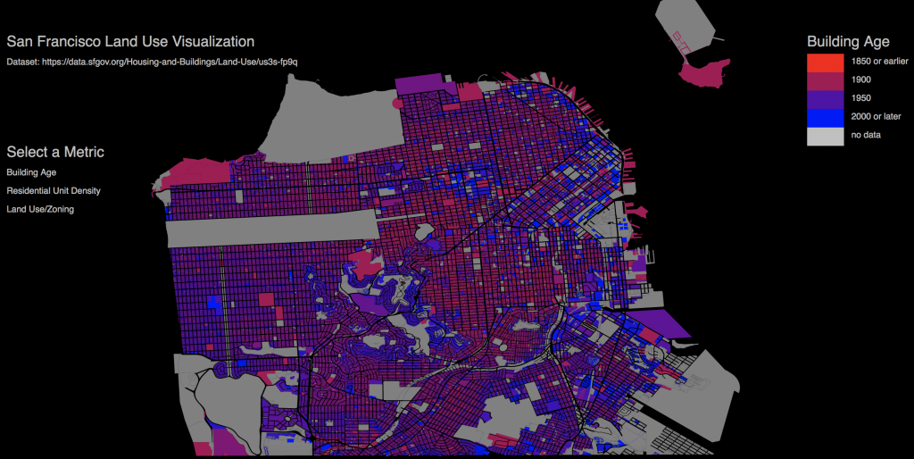 Mapping San Francisco Building Ages