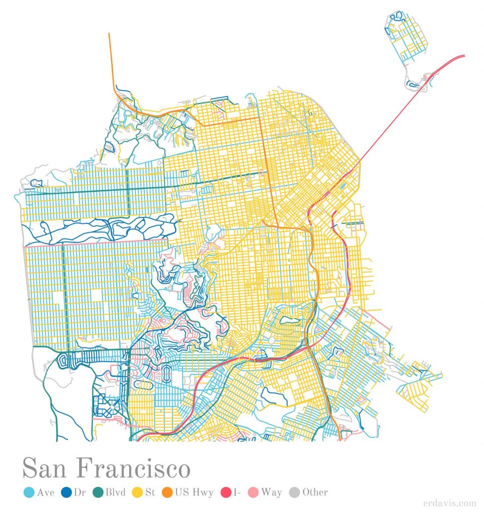 Coloring San Francisco's streets by a suffix
