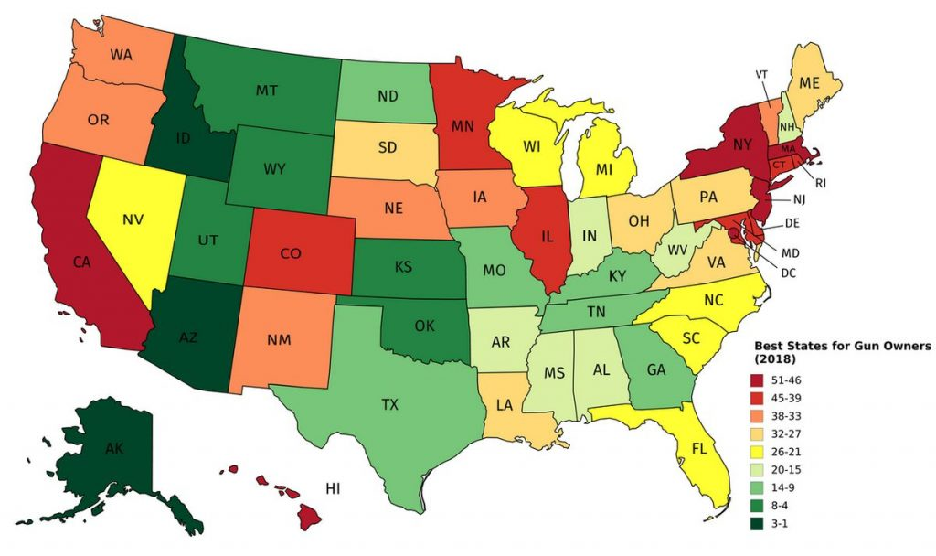 Best U.S. States for Gun Owners
