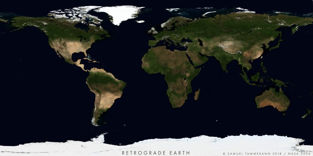 What Earth would look like if it rotated backward