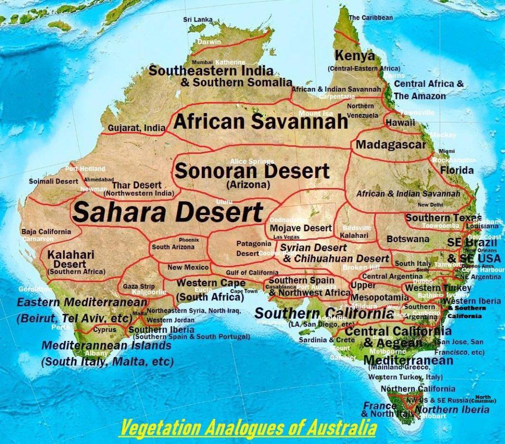 Vegetation Analogues of Australia