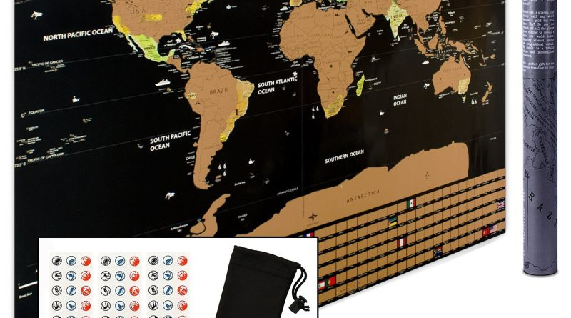 Scratch Off World Map Wall Poster