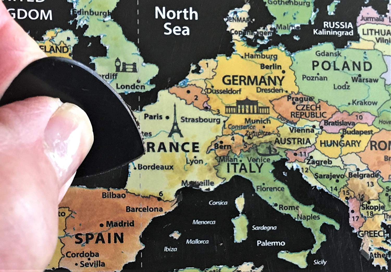 Fossa Scratch Off World Map