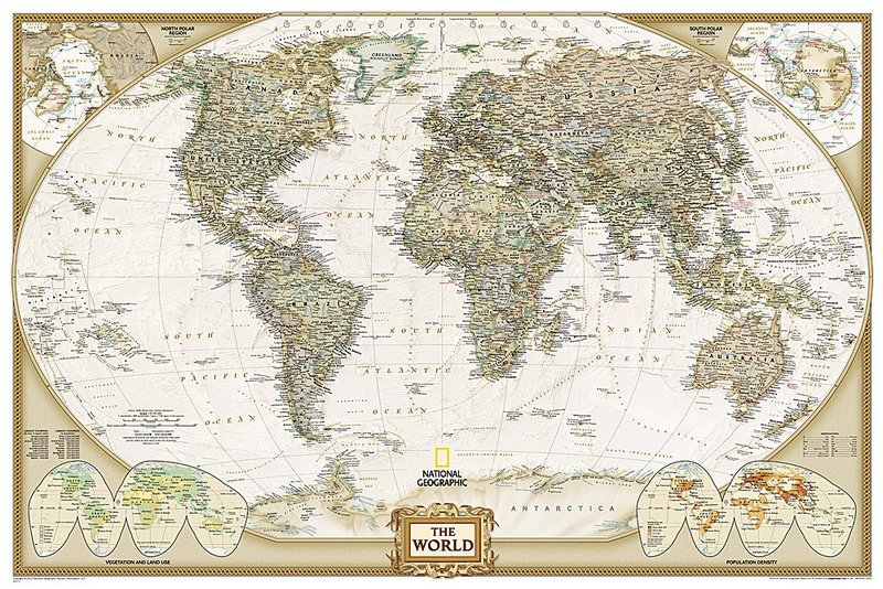 National Geographic: World Executive Wall Map