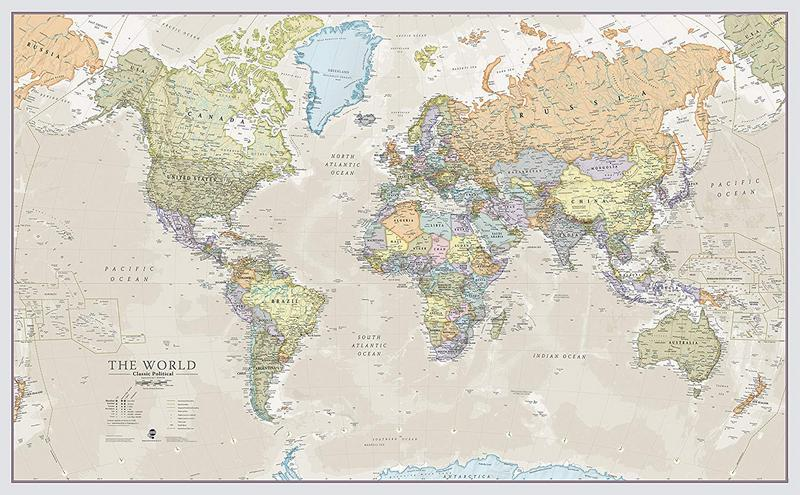 Maps International Giant World Map