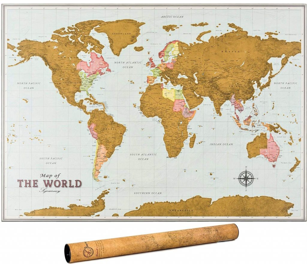 World Scratch of map
