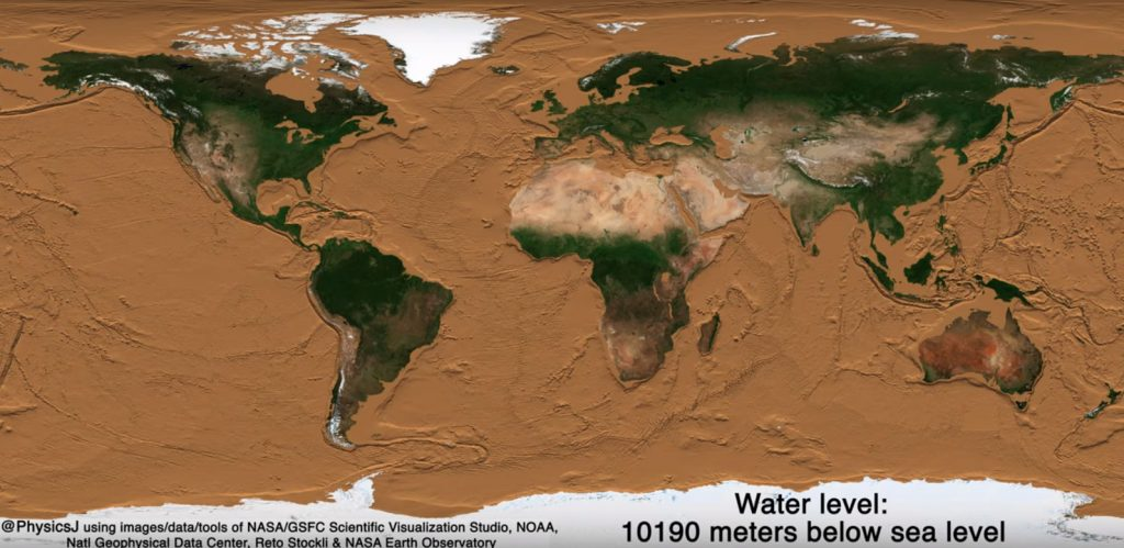 What Earth Would Look Like If All The Oceans Were Drained