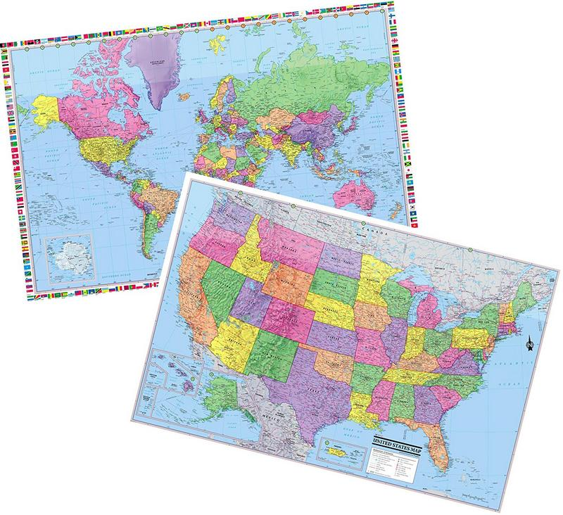 Cool Owl Maps World & United States 3D Wall Maps